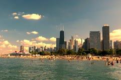 Het strand Chicago van de het noordenweg Stock Fotografie