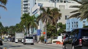 Het Strand Collins Avenue van Miami stock footage
