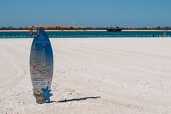 Het strand in Corniche, Abu Dhabi stock foto