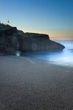 Het strand dat van Anglet donker, Frankrijk wordt Royalty-vrije Stock Afbeelding