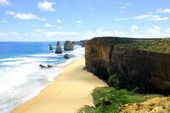 Het strand, de hemel Stock Foto's