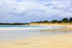 Het strand, de hemel Stock Afbeelding