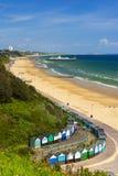 Het strand, de pijler, het overzees en het zand van Bournemouth royalty-vrije stock afbeelding