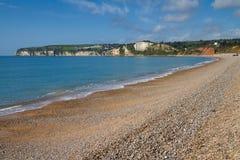 Het strand Devon Engeland van Seaton royalty-vrije stock foto's