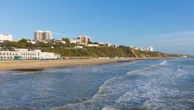 Het strand Dorset Engeland het UK van Bournemouth dichtbij aan Poole Royalty-vrije Stock Afbeeldingen