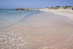 Het strand Elafonisi van Kreta Stock Foto's