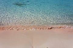 Het strand Elafonisi van Kreta Stock Afbeelding