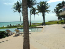 Het Strand en de Gebouwen van Florida Royalty-vrije Stock Afbeeldingen