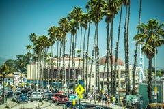 Het strand en de kustlijn van kerstman cruz Californië in de lente royalty-vrije stock fotografie