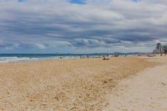 Het strand en het landschap in Surfersparadijs op de Gouden Kust Royalty-vrije Stock Afbeeldingen