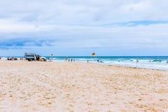 Het strand en het landschap in Surfersparadijs op de Gouden Kust Stock Foto