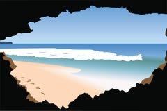 Het strand en ziet Vector Illustratie