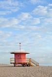 Het Strand Florida, badmeesterhuis van Miami Stock Afbeeldingen