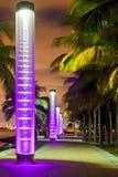Het Strand Florida van Miami bij nacht Royalty-vrije Stock Foto