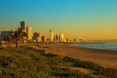 Het Strand Front South Africa van Durban royalty-vrije stock fotografie