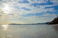 Het strand in getijdentijd Royalty-vrije Stock Afbeelding