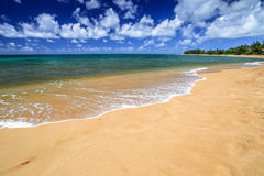 Het Strand Hawaï van de zonsondergang Royalty-vrije Stock Foto's