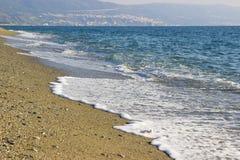 Het strand in het gebied van Calabrië, Italië Stock Afbeeldingen
