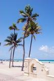 Het strand in Hollywood, Florida Royalty-vrije Stock Foto