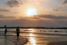 Het strand in Israël Stock Foto