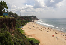 Het strand Kerala India van Varkala royalty-vrije stock afbeelding