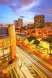 Het Strand Lincoln Road Mall Movie Theater van Miami en bewegend verkeer royalty-vrije stock afbeeldingen