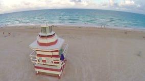 Het Strand luchtlengte van Miami stock videobeelden