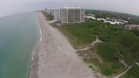 Het strand luchtmening van Florida stock footage