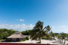 Het strand in Mahahual, Mexico Royalty-vrije Stock Foto's