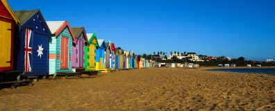 Het strand Melbourne Australië van Brighton stock fotografie
