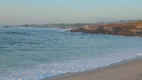 Het Strand Monterey Californië van de gezichtspuntkiezelsteen stock videobeelden