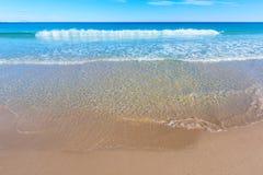 Het strand mooi Middellandse-Zeegebied van Alicante San Juan Stock Foto's