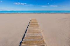 Het strand mooi Middellandse-Zeegebied van Alicante San Juan Stock Afbeeldingen