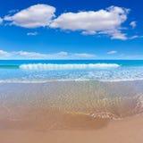 Het strand mooi Middellandse-Zeegebied van Alicante San Juan Stock Fotografie