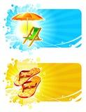 Het strand neemt frames zijn toevlucht vector illustratie