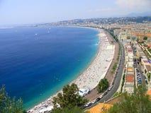 Het strand in Nice. Royalty-vrije Stock Afbeeldingen