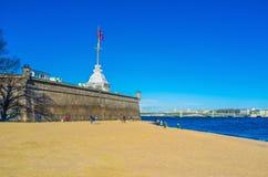 Het strand op de rivier Royalty-vrije Stock Foto's