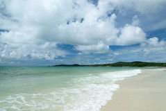Het strand op Samed-Eiland in Thailand Stock Fotografie