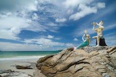 Het strand op Samed-Eiland in Thailand Stock Foto's