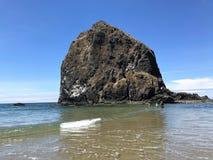 Het Strand Oregon van het kanon stock afbeeldingen