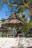 Het strand in Paje, Zanzibar Stock Fotografie
