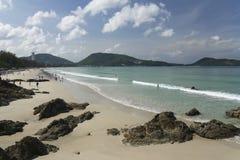 Het strand phuket eiland Thailand van Patong Royalty-vrije Stock Afbeeldingen