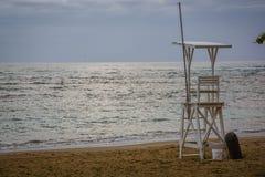Het Strand in Puerta Plata vóór de Menigten stock foto's