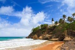 Het strand Puerto Rico van de Puntatonijn royalty-vrije stock afbeeldingen