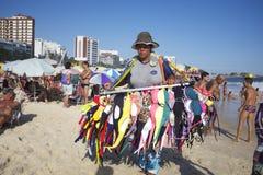 Het Strand Rio de Janeiro Brazil van Ipanema van de bikiniverkoper Royalty-vrije Stock Foto