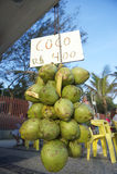 Het Strand Rio de Janeiro Brazil van kokosnotenipanema Stock Foto