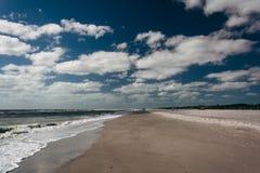 Het strand in Sanibel, Florida Royalty-vrije Stock Foto's