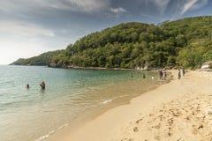 Het strand in Santa Cruz Huatulco stock foto's