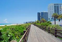 Het Strand Scenie van Miami Stock Afbeeldingen