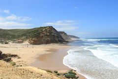 Het strand Sintra Portugal van S. Julião Stock Afbeeldingen